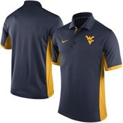 Men's Nike Navy West Virginia Mountaineers Team Issue Performance Polo