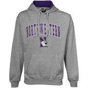 Northwestern Wildcats Gray Classic Twill Hoodie Sweatshirt