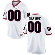 Men's Nike White Georgia Bulldogs Custom Game Football Jersey