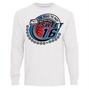 Men's White 2015 NCAA Men's Basketball Tournament Sweet 16 Group Long Sleeve T-Shirt