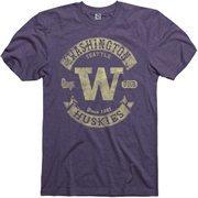 Washington Huskies Heathered Purple Rockers Ringspun T-Shirt