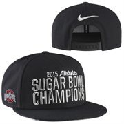 Mens Ohio State Buckeyes Nike Black 2015 Sugar Bowl Champions Player's Locker Room Adjustable Hat