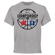 Men's Ash Wisconsin Badgers vs. Duke Blue Devils 2015 NCAA Men's Basketball National Championship Game Matchup T-Shirt