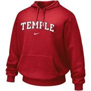 Nike Temple Owls Cherry Vertical Arch Hoodie Sweatshirt