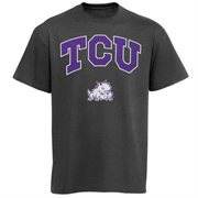 Mens Charcoal TCU Horned Frogs Arch Over Logo T-Shirt