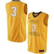 Men's West Virginia Mountaineers Nike Gold No. 3 Replica Master Jersey