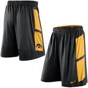 Mens Nike Black Iowa Hawkeyes Varsity Fly Performance Shorts