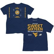 Men's Navy Blue West Virginia Mountaineers 2015 NCAA Men's Basketball Tournament Sweet 16 Bracket T-Shirt