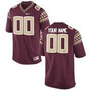Nike Mens Florida State Seminoles Custom Replica Football Jersey - Garnet
