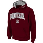 Mens Montana Grizzlies Maroon Classic Arch Logo Twill Hoodie
