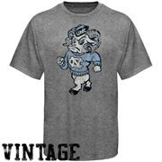 North Carolina Tar Heels (UNC) Ash Distressed Big Logo Vintage T-shirt