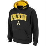 Mens Appalachian State Mountaineers Black Classic Arch Logo Twill Hoodie