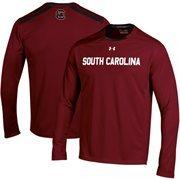 South Carolina Gamecocks Under Armour 2014 Sideline Win It Performance Long Sleeve Top - Garnet