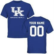 Kentucky Wildcats Personalized Basketball T-Shirt - Royal Blue