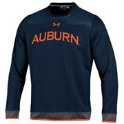 Mens Auburn Tigers Under Armour Navy Blue 2014 Sideline Ultimate Performance Crew Sweatshirt