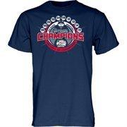 Men's Navy Blue UConn Huskies 2015 NCAA Women's Basketball National Champions Multi-Championship T-Shirt