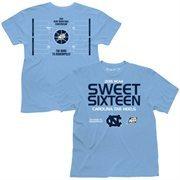 Men's Carolina Blue North Carolina Tar Heels 2015 NCAA Men's Basketball Tournament Sweet 16 Bracket T-Shirt