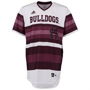 Men's adidas White Mississippi State Bulldogs Authentic Baseball Jersey