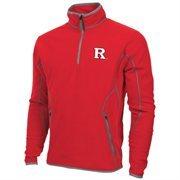 Mens Rutgers Scarlet Knights Antigua Red Ice Quarter-Zip Fleece Jacket