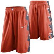 Mens Illinois Fighting Illini Nike Orange Replica On-Court Basketball Shorts
