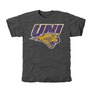 Northern Iowa Panthers Distressed Primary Tri-Blend T-Shirt - Charcoal