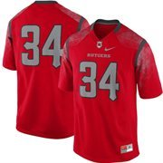 Rutgers Scarlet Knights Nike No. 34 Replica Football Jersey - Scarlet