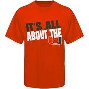 Miami Hurricanes It's All About The U Slogan T-Shirt - Orange