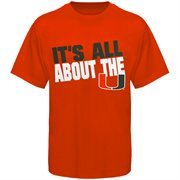 Miami Hurricanes It's All About The U Slogan T-Shirt - Orange