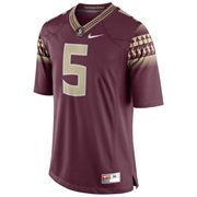 Mens Florida State Seminoles Nike Garnet No. 5 Limited Football Jersey