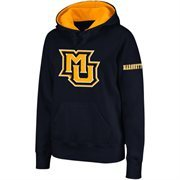 Women's Marquette Golden Eagles Navy Blue Big Logo Pullover Hoodie