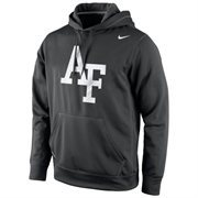 Air Force Falcons Nike Warp Logo Therma-FIT Hoodie - Black