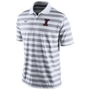 Mens Illinois Fighting Illini Nike White Preseason Football Dri-FIT Polo