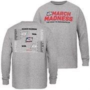 Youth Gray 2015 NCAA Men's Basketball Tournament Bracket Town Long Sleeve T-Shirt