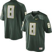 Mens Oregon Ducks Nike Green No. 8 Limited Football Jersey