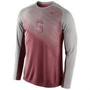 Mens Stanford Cardinal Nike Cardinal Fearless Shootaround Long Sleeve T-Shirt