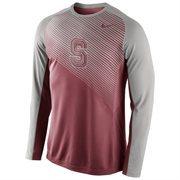 Mens Stanford Cardinal Nike Cardinal Fearless Shootaround Long Sleeve T-Shirt