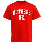 Mens Scarlet Rutgers Scarlet Knights Arch Over Logo T-Shirt