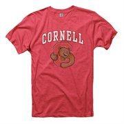 Cornell Big Red Big Arch N' Logo Ring Spun T-Shirt - Heathered Red