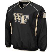 Wake Forest Demon Deacons Hardball II Pullover V-Neck Jacket - Black