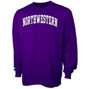Northwestern Wildcats Purple Vertical Arch Long Sleeve T-shirt