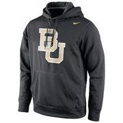 Baylor Bears Nike Warp Logo Therma-FIT Hoodie - Black