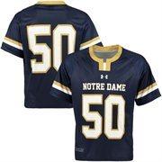 Men's Under Armour No. 50 Navy Blue Notre Dame Fighting Irish Replica Lacrosse Jersey