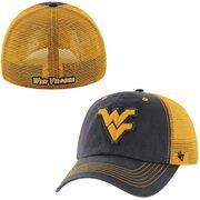 Mens '47 Brand Navy Blue West Virginia Mountaineers Taylor Closer Flex Hat