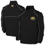 Mens Iowa Hawkeyes Black Big & Tall 1/4 Zip Wind Jacket