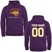 Northern Iowa Panthers Personalized Football Pullover Hoodie - Purple