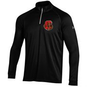 Men's Cornell Big Red Under Armour Black Performance Quarter-Zip T-Shirt