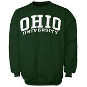 Ohio Bobcats Bold Arch Crew Sweatshirt - Green