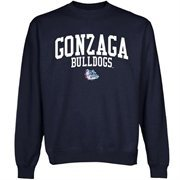 Gonzaga Bulldogs Team Arch Sweatshirt - Navy Blue