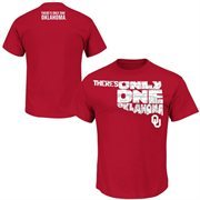 Men's Majestic Crimson Oklahoma Sooners 2015 There's Only One Oklahoma T-Shirt