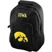 Iowa Hawkeyes Black Southpaw Backpack